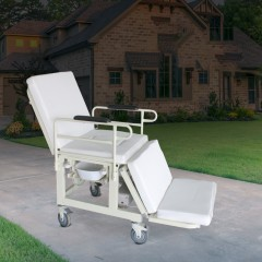 迈德斯特电动轮椅床白色款 多功能老人护理床 床椅分离多功能床