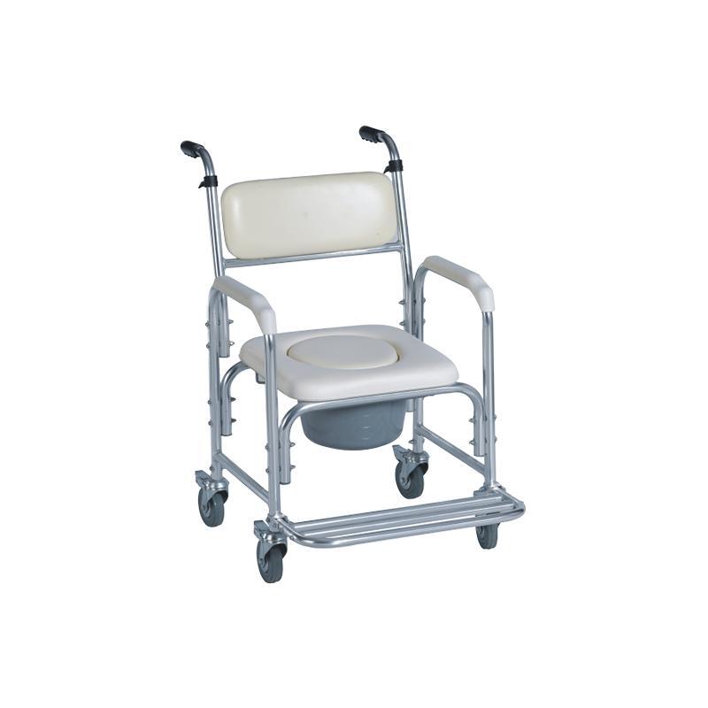 顺康泰居家型沙发座便两用(铝质固定主架带轮带扶手把手) SC7005B